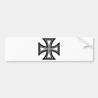 Iron cross bumper stickers