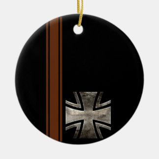 Iron Cross Ceramic Ornament