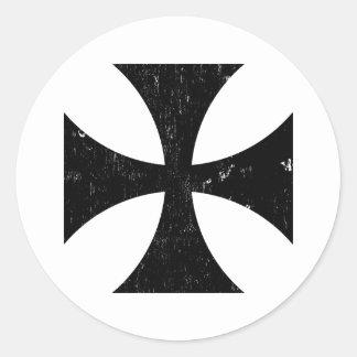 Iron Cross - German/Deutschland Bundeswehr Classic Round Sticker