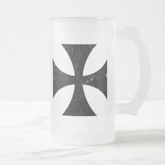 Iron Cross - German/Deutschland Bundeswehr Frosted Glass Beer Mug