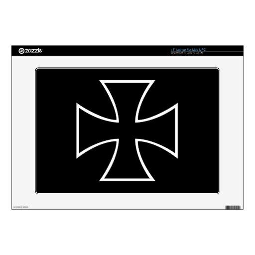 Iron cross laptop decal