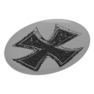 Iron Cross Melamine Plate