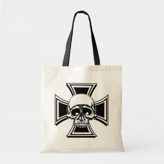 Iron Cross Military Emblem Skull Design by Beatty Tote Bag