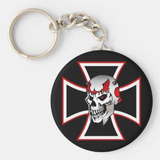Iron Cross Skull keychain