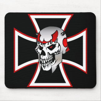 Iron Cross Skull mousepad