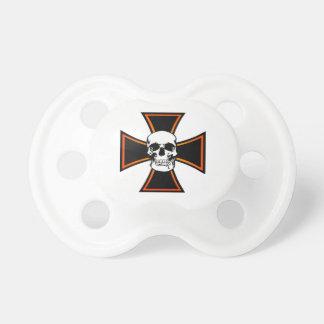 Iron Cross Skull Pacifier