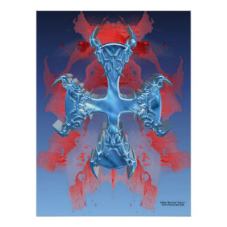 Iron Cross Skull Print