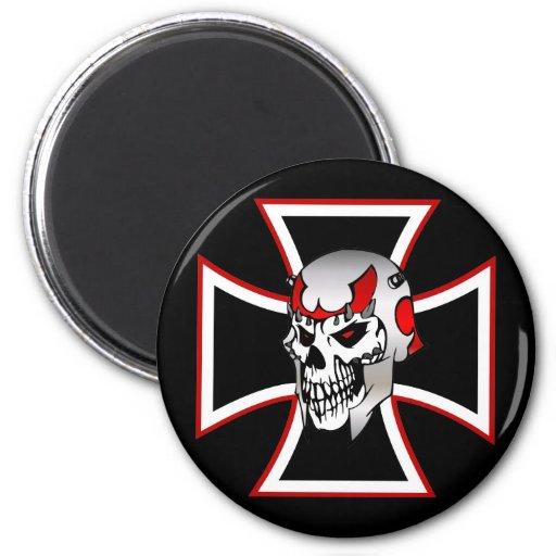 Iron Cross Skull refrigerator magnet