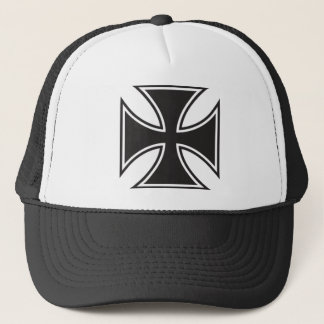 Iron cross trucker hat