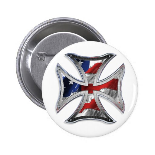 Iron Cross w/ American Flag Buttons