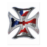 Iron Cross w/ American Flag Post Cards