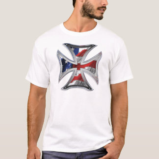 Iron Cross w/ American Flag T-Shirt