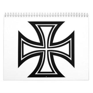 Iron cross wall calendars