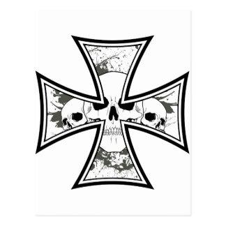 Iron Cross with Skulls Postcard