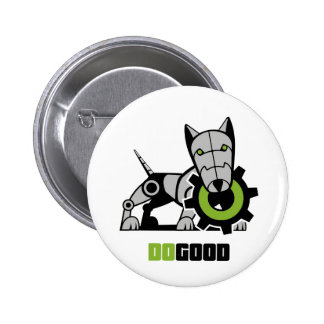 Iron Dog Pinback Button