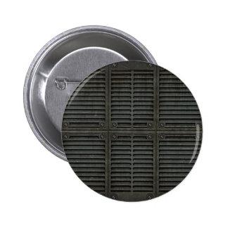 Iron door pinback button