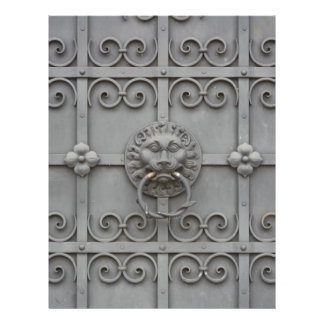 Iron Door with Lion Letterhead