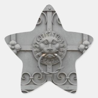 Iron Door with Lion Star Sticker