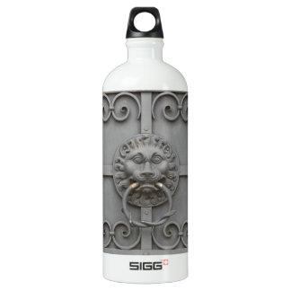 Iron Door with Lion Water Bottle
