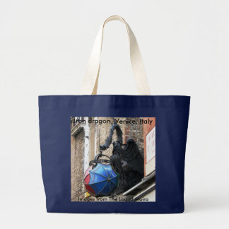 Iron dragon building ornament, Venice, Italy Large Tote Bag