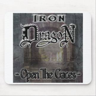 "Iron Dragon ""OPEN THE GATES"" Mouse Pad"