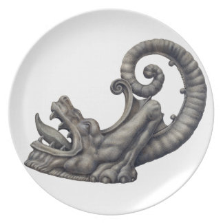 Iron Dragon Party Plate