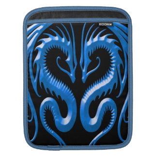 Iron Dragons, blue and black Sleeve For iPads