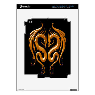 Iron Dragons brown and black Skins For iPad 3