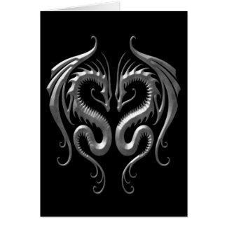 Iron Dragons Greeting Card