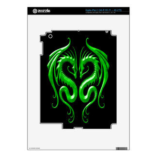 Iron Dragons green and black Decal For iPad 3