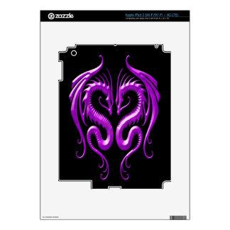 Iron Dragons purple and black iPad 3 Skin