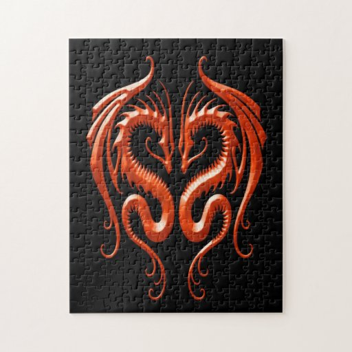 Iron Dragons, red and black Puzzles
