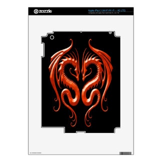 Iron Dragons red and black Decal For iPad 3