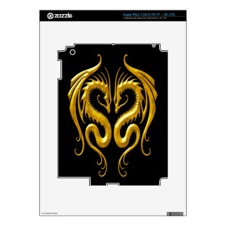 Iron Dragons yellow and black Decal For iPad 3