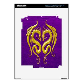 Iron Dragons yellow and purple iPad 3 Decal
