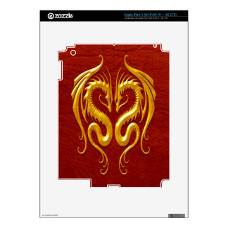 Iron Dragons, yellow and red Decals For iPad 3