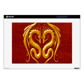 Iron Dragons, yellow and red Decals For Laptops