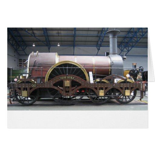 Iron Duke Steam Engine Greeting Card
