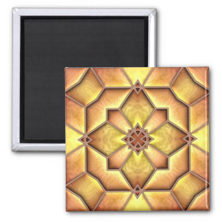 Iron Edged Glass 2 Inch Square Magnet