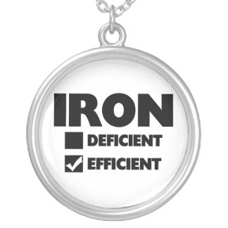Iron Efficient Silver Plated Necklace