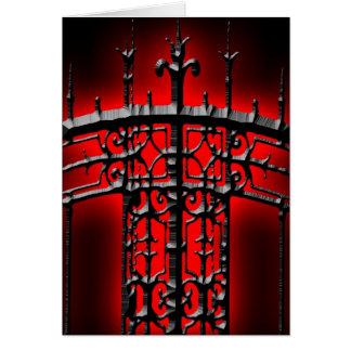 Iron Fence Halloween Invitation Card