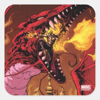 Iron Fist And Shou-Lau Square Sticker