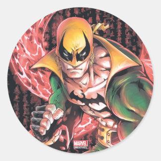 Iron Fist Chi Dragon Classic Round Sticker