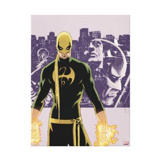 Iron Fist City Silhouette Canvas Print