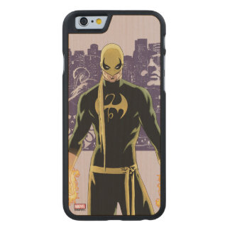 Iron Fist City Silhouette Carved® Maple iPhone 6 Case