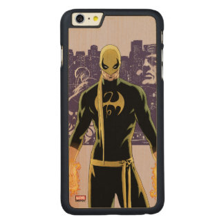 Iron Fist City Silhouette Carved® Maple iPhone 6 Plus Case