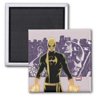 Iron Fist City Silhouette Magnet
