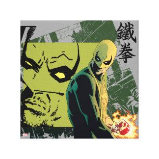Iron Fist Comic Book Graphic Canvas Print