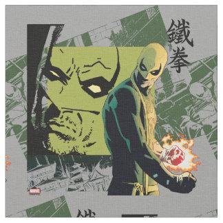 Iron Fist Comic Book Graphic Fabric