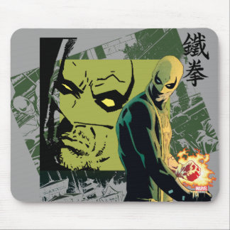 Iron Fist Comic Book Graphic Mouse Pad